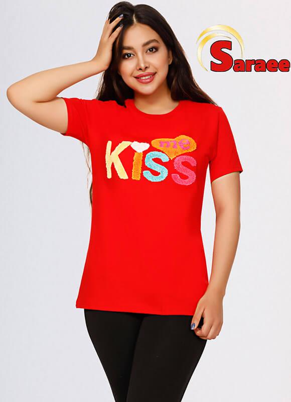 تی شرت kiss me کد ۹۱۳