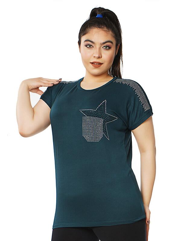 تاپ آستین افتاده طرح جیب ستاره کد ۱۱۴۹